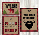 Lumberjack Camping Outdoor Themed Party Food Table Decorations