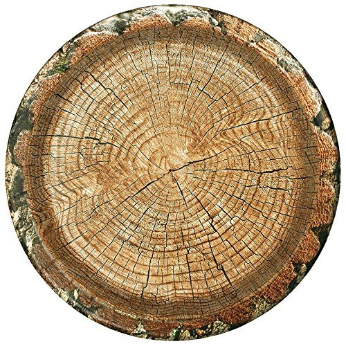 "Cut Timber Party Plate (Large 10"", round, 8 Pack) Cut Timber Party Collection by Havercamp"