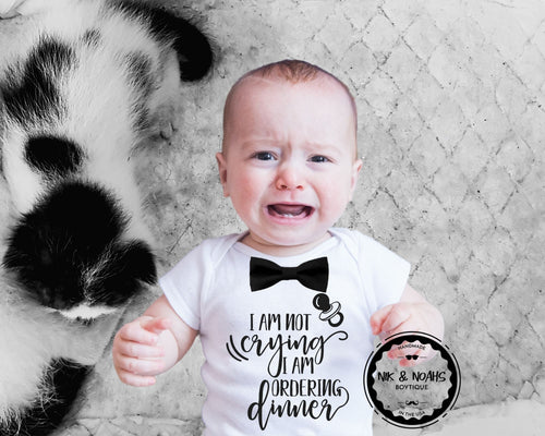 Funny Baby Boy Onesie with Black Bow Tie. Cute Baby Shower Gift for Baby Boy. Baby Boy Shirts with Cute Sayings  Cute Baby Boy Clothes Nik and Noah's Boytique, Newborn Boy Outfits with Bow Ties