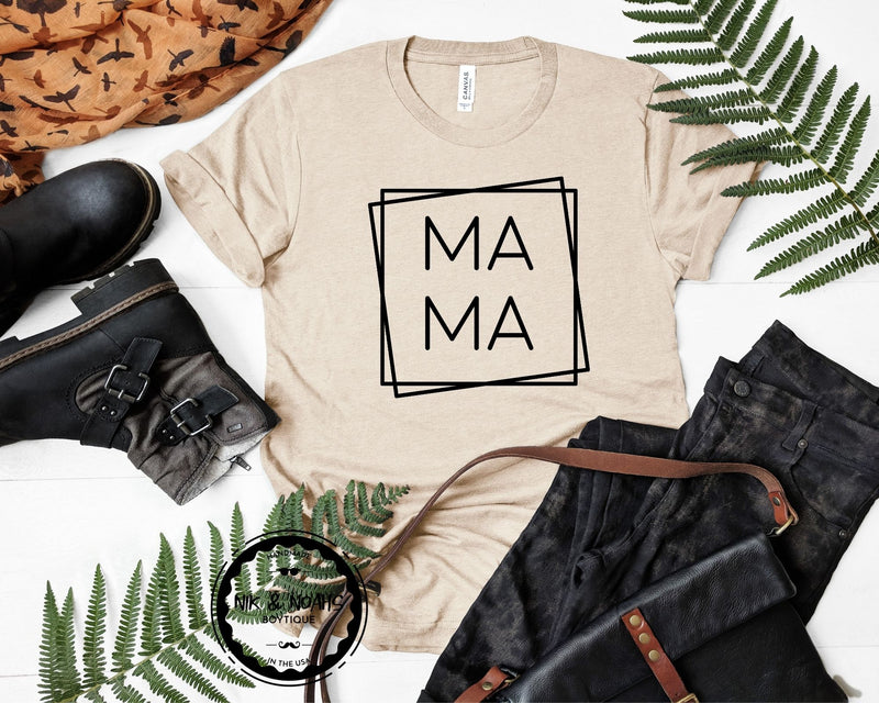 Mama Graphic Tee Shirt Mama Bear Shirt Cute Shirts for Moms Baby Shower Gift for New Mom little mama shirt shop