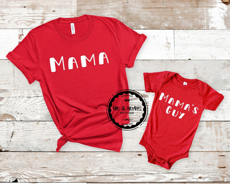 matching mom and son shirts mamas guy and mama shirt christmas cute matching family shirts baby onesie toddler
