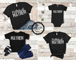 matching mom and son shirt mother of mayhem matching mom and daughter shirt kids family outfits funny graphic tees baby boy toddler