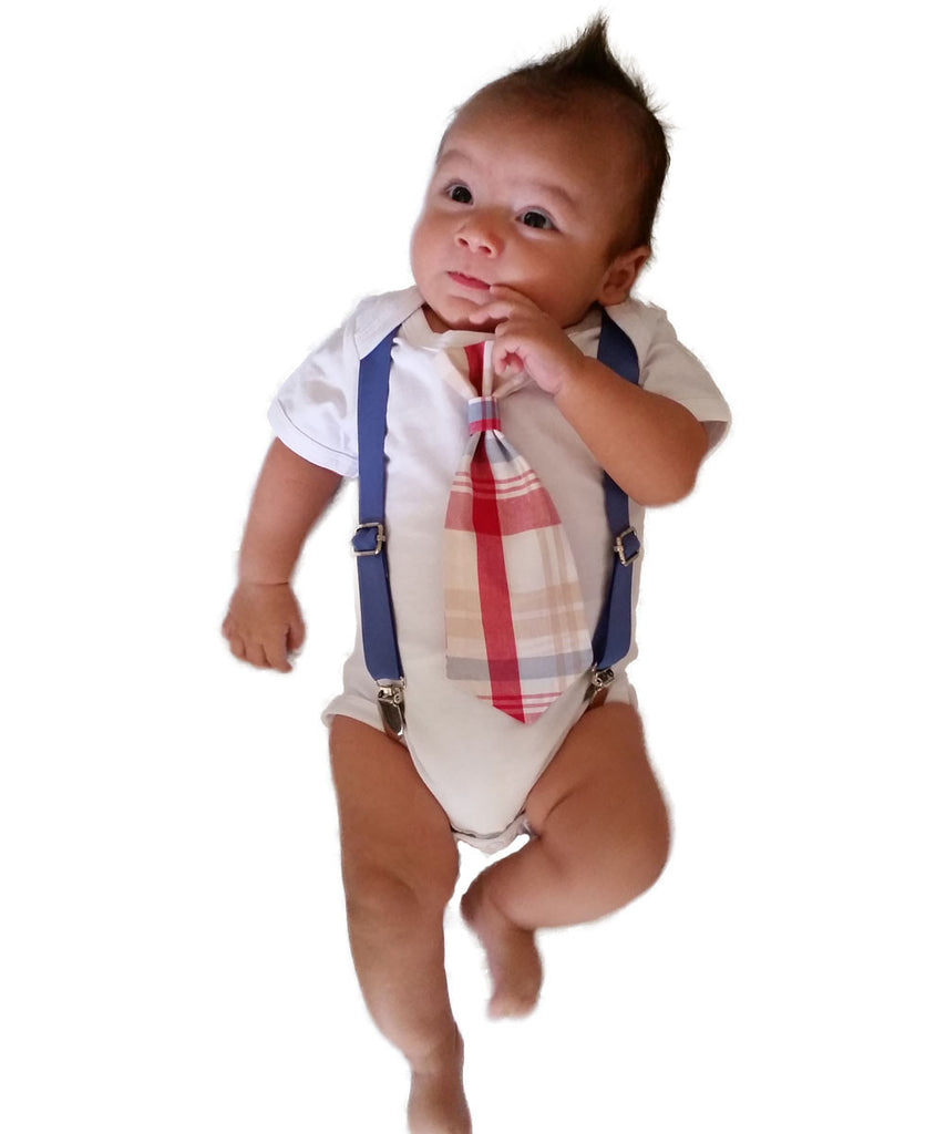 Cape Cod Clothes Part - 34: ... Baby Boy Outfits For Spring - Summer Baby Boy Clothes - Plaid - Preppy  - Tie ...