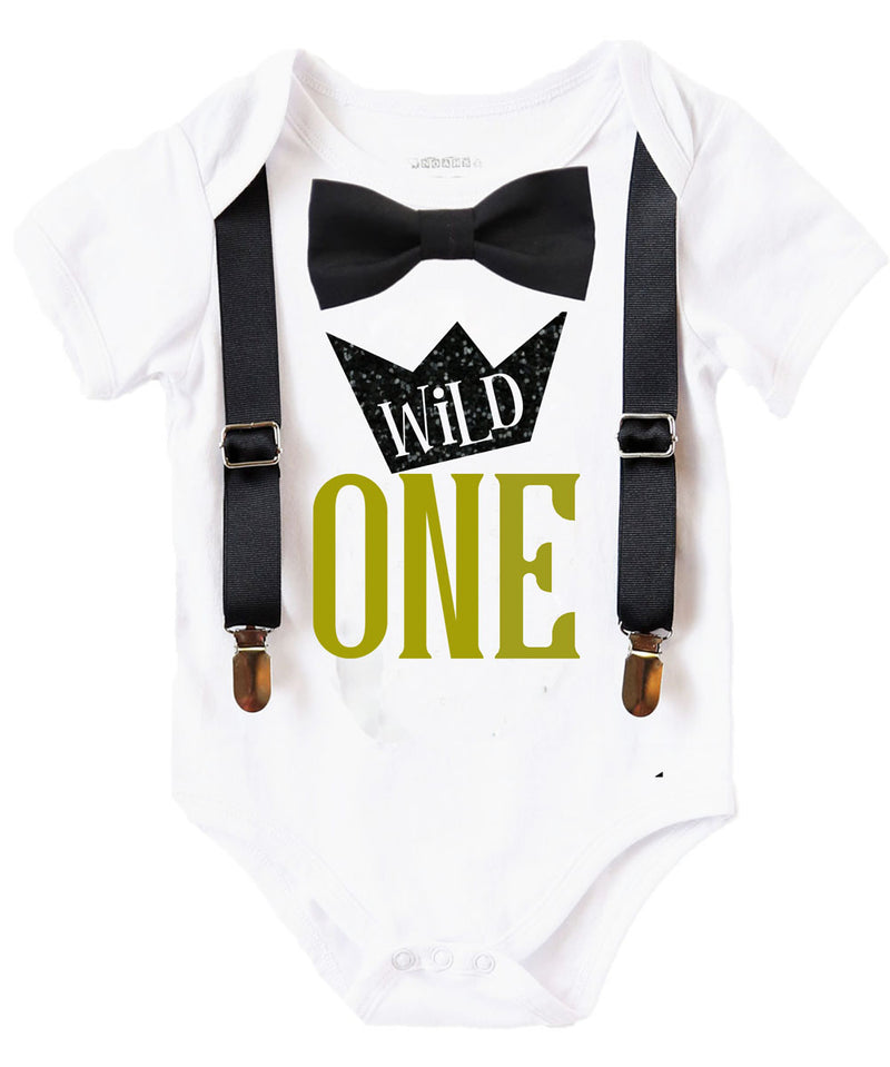 Wild One Wild One Party One Cake Smash Outfit Gold Wild One Birthday Outfit 1st Birthday Outfit First Birthday Outfit 1st Birthday