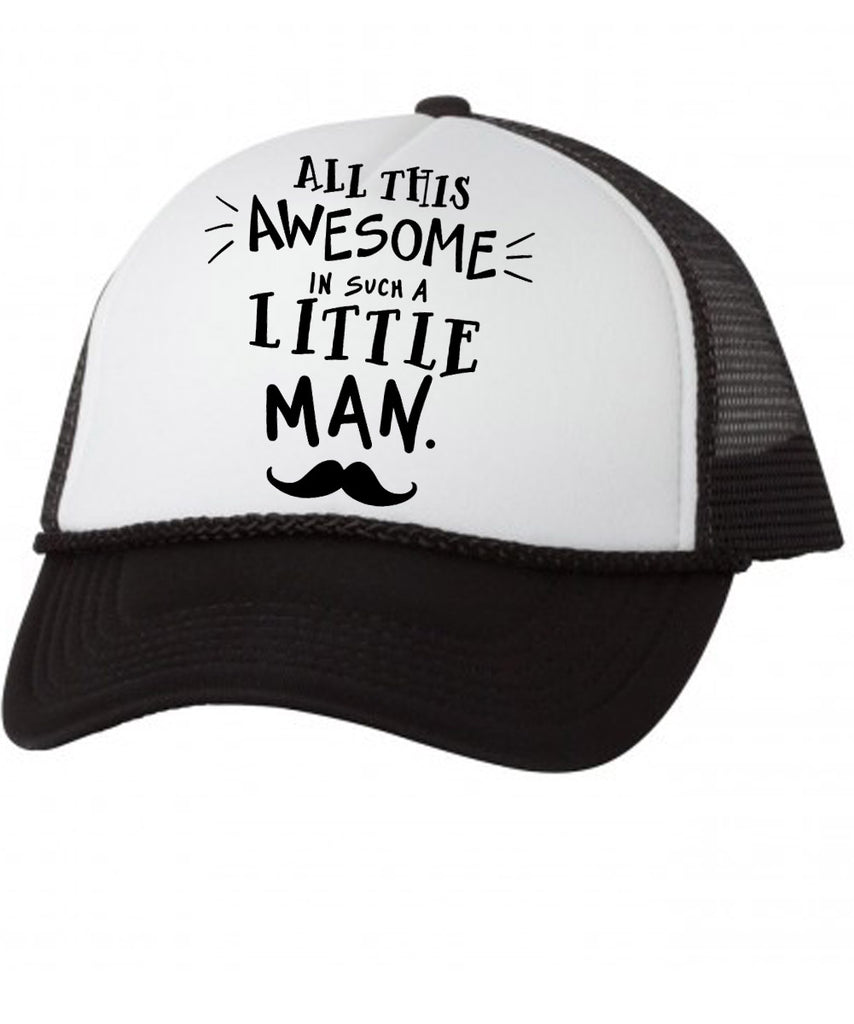 Awesome Little Man Mesh Trucker Hat Baby Toddler Infant Kids Boy