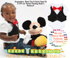 Baby Boy Vest Bow Tie Black Pinstripe Red Bow Tie