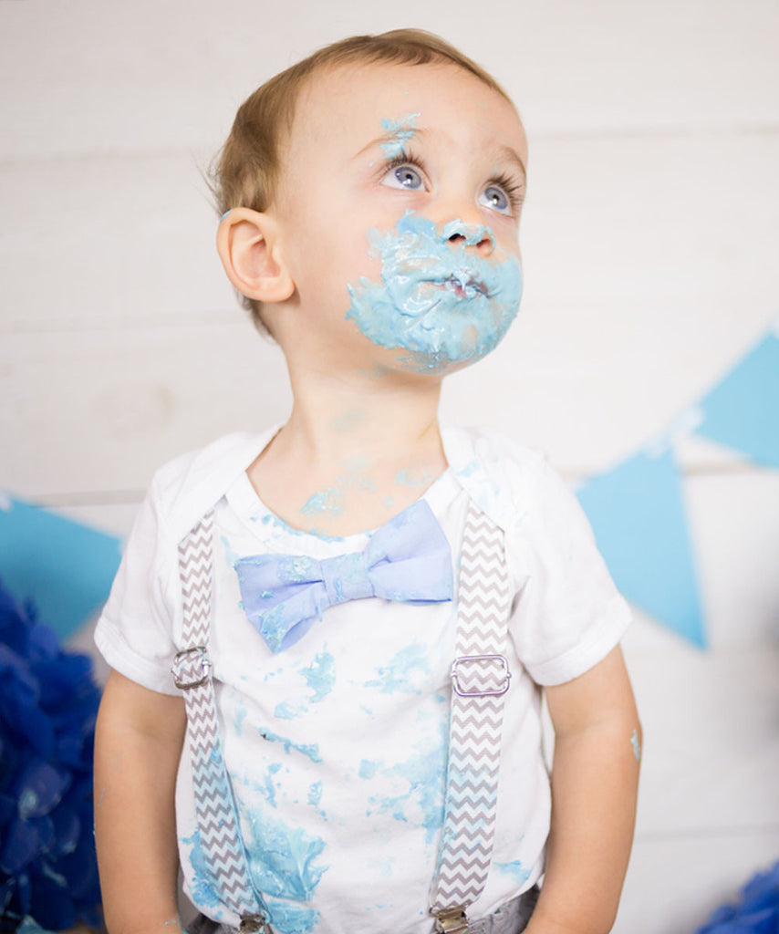 First Birthday Shirt Boy - Gray Grey and Baby Blue - Light Blue - Chevron - Cake Smash Outfit - Smash Cake Set - Blue and Grey- 1st Birthday