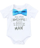 Newborn Boy Coming Home Outfit Blue and Grey - Baby Boy Clothes - Gray - Coming Home Set - Baby Shower Gift Baby Boy - Awesome Little Man - Coming Home Onesie - Newborn Boy Onesie