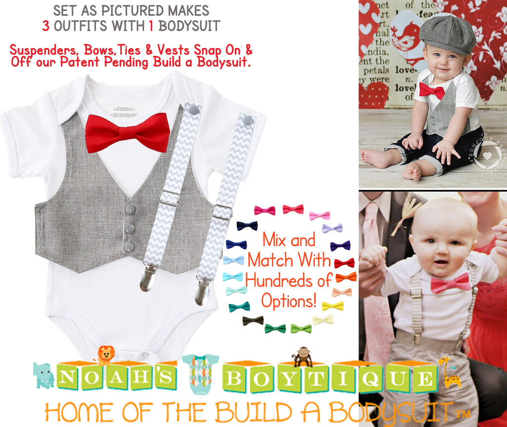 baby boy clothes 1st birthday outfit gift set noah's boytique