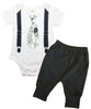 Coming Home Outfit Baby Boy Hello Hi Black and White - Take Home Hospital Outfit Newborn - Hipster Newborn Boy Clothes - Tie and Suspenders coming home onesie baby boy monochrome black and white