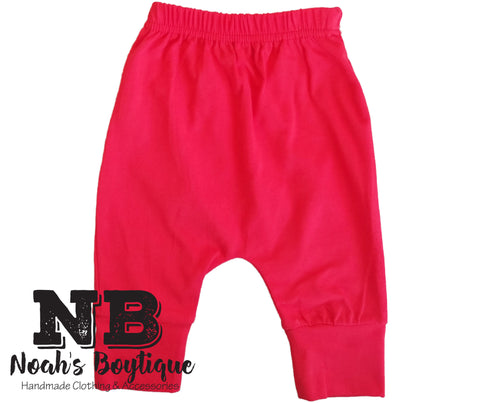 Noah's Boytique Baby Boy Buffalo Plaid Pants Red Black Grey