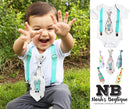 aby Boy Easter Outfit - Easter Bunny Tie and Suspenders - Easter Outfit Newborn - First Easter - Easter Shirt - Toddler - Infant - Plaid - Easter Onesie