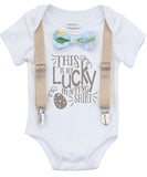 baby boy easter outfit 1st easter onesie with saying bow tie and suspenders cute baby boy clothes
