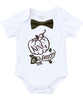 baby boy thanksgiving outfit bow tie shirt onesie king of the patch pumpkin fall
