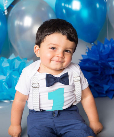 Baby Boy Mustache Birthday Outfit - Little Man Outfit - First Birthday - Mint - Grey Gray - Bow Tie Party - Baby Boy Clothes - 1st Birthday