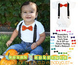 Baby Boy Halloween Outfit - Newborn - Toddler Boy - Halloween Party Onesie - Pumpkin Tie - Orange and Black - 1st Birthday - Pumpkin Patch - Noah's Boytique