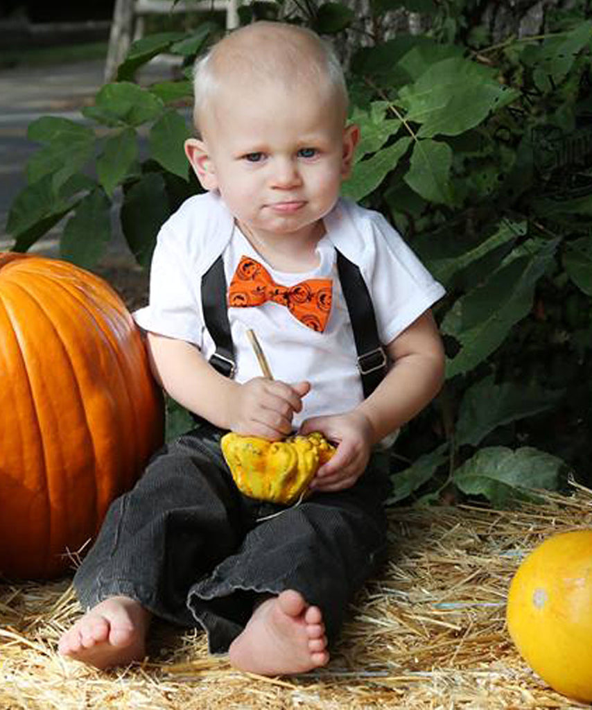 Well-known Halloween Outfits for Baby Boys Pumpkin Bow Tie and Suspenders  HO65