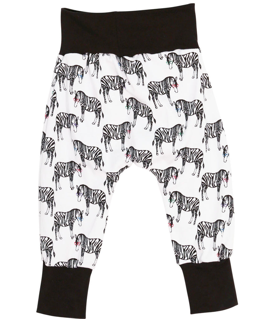 zebras with glasses glasses hipster baby pants zebras trendy baby pants toddler boys pants for toddlers pants for baby boys pants for babies noahs boytique newborn boy pants harem pants cute pants for babies baby boy pants baby boy harem pants baby boy