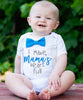 baby boy onesies with sayings cute bow tie baby shower gift new baby gift son mamas heart full