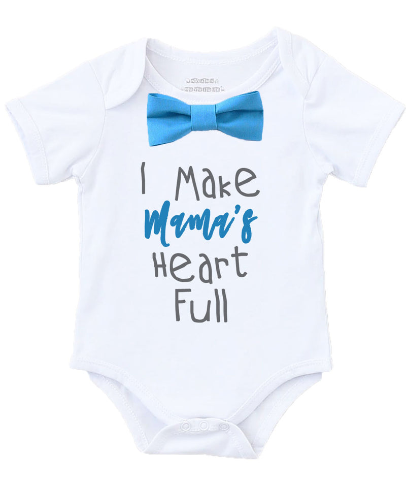 mothers day outfit shirt baby boy onesie with saying bow tie suspenders chevron grey blue mothers day gift new mom gift baby shower gift