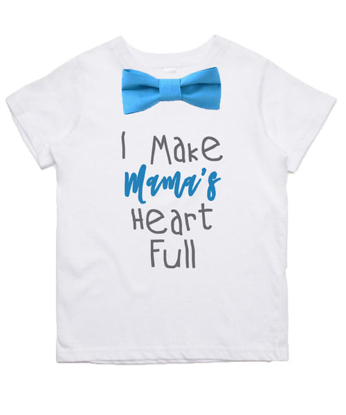 mothers day outfit shirt toddler boy with saying bow tie suspenders chevron grey blue mothers day gift new mom gift baby shower gift