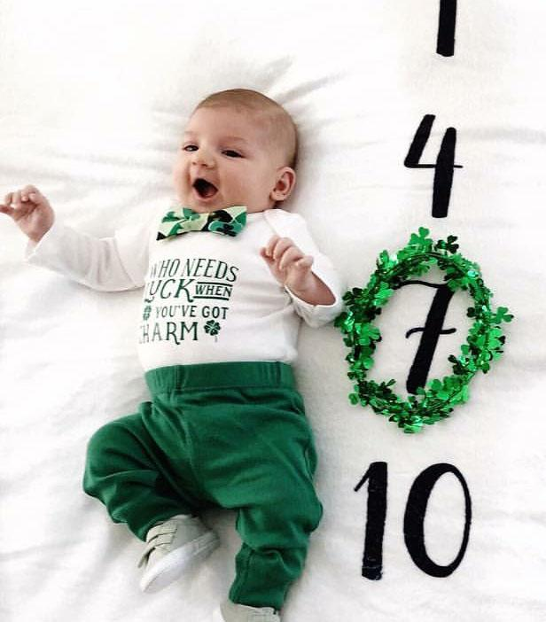 baby boy st patricks day outfit newborn st patricks day onesie first st pattys day