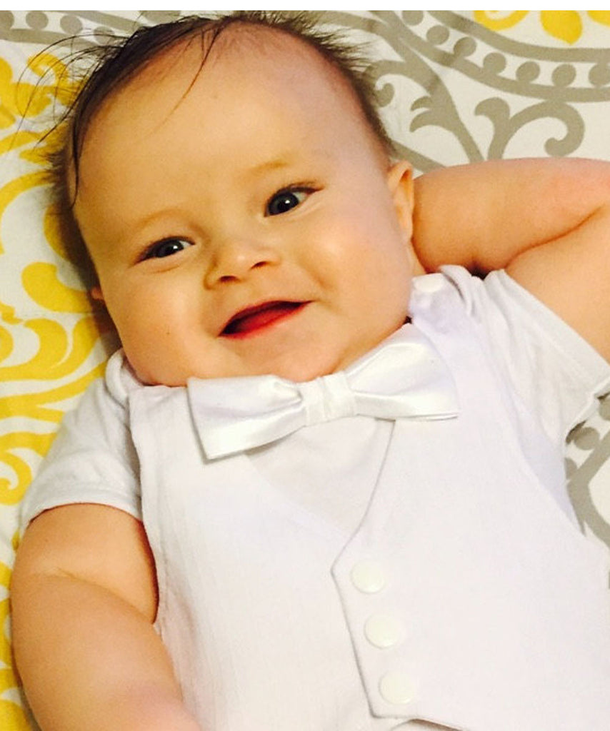 abfddb125 ... Baby Boy Baptism Outfit - Dedication Outfit for Boy - Baby Baptism Suit  - Tuxedo Baby ...