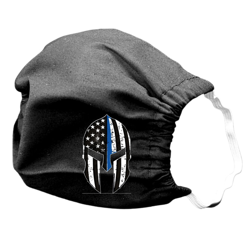 Blue Line Cotton Face Masks Washable Reuseable Law Enforcement American Flag USA Black punisher with bow women lady patriotic eagle police sheriff deuty law enforcement gladiator mask