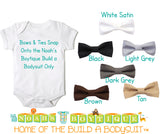 Baby Bow Ties for Noah's Boytique Build a Bodysuit - Snap On Bow Ties - Bow Ties for Babies - Bow Tie Outfit - Bowtie - Black - Satin - Bow Tie Onesie
