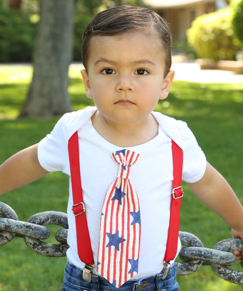 fourth of july outfit baby boy 4th of july shirt patriotic newborn toddler onesie tie and suspenders stars and stripes