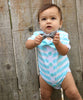 Baby Boy Cardigan Outfit with Bow Tie Mint - Preppy Baby Outfit - Short Sleeve - Baby Boy Clothes - Stripes - Summer - Spring - Noah's Boytique - Noah's Boytique Bodysuit - Baby Boy First Birthday Outfit