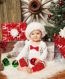 Christmas Outfit Baby Boy - Santa Picture Outfit - Christmas Legwarmer Bodysuit - First Christmas - Toddler - Infant - Christmas Shirt - Dot