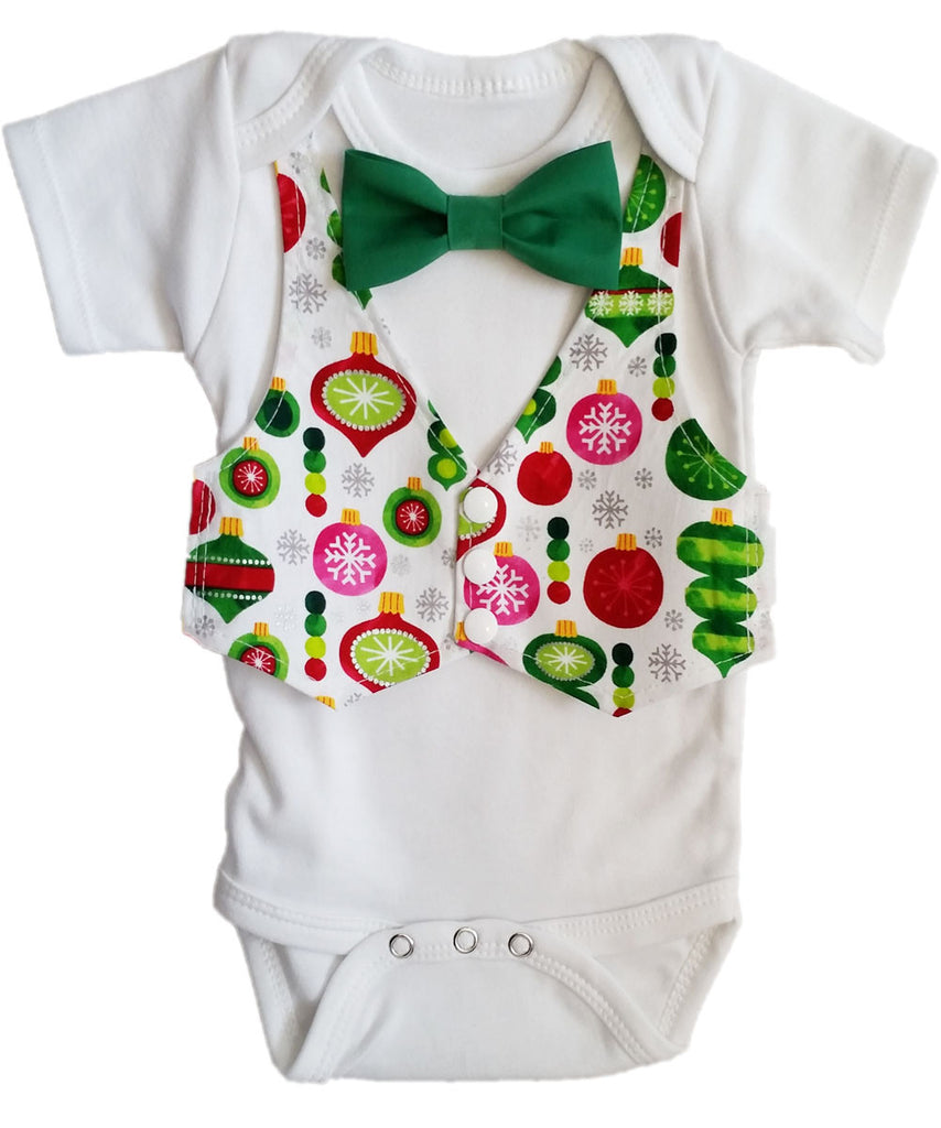 Twin Boy Christmas Outfit with Vest and Bow Tie Brothers – Noah\'s ...