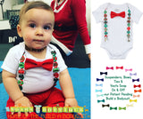 Ugly Sweater Party Christmas Outfit Baby Boy - Suspenders Bow Tie - Funny Christmas - Santa Picture Outfit - Newborn Boy - Infant - Toddler