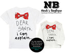 toddler boy christmas shirt santa clause christmas outfit onesie bow tie funny pictures long sleeve dear santa i can explain boy christmas gift