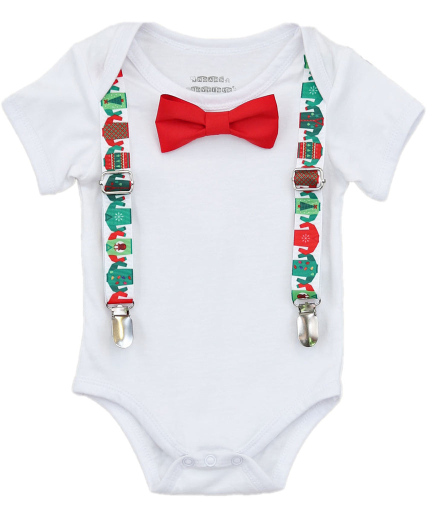 Ugly Sweater Party Christmas Outfit for Baby Boys – Noah\'s Boytique