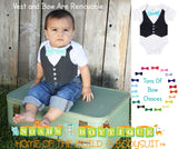 Baby Boy Clothes - Outfit For Weddings - Boys Shirt - Toddler - Ring Bearer Outfit - Spring Wedding - Mint and Grey - Turquoise - Lavender - Noah's Boytique Bodysuit - Baby Boy First Birthday Outfit
