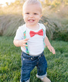 Dinosaur Noah's Boytique Bodysuit Suspenders - Snap on Suspenders - Suspender Outfit - Baby Suspenders - Dinosaur Party - Noah's Boytique Suspenders - Baby Boy First Birthday Outfit