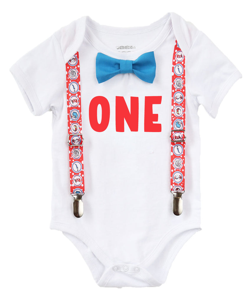 ae7ff160 baby boy dr seuss cat in the hat thing 1 things 2 first birthday outfit  shirt ...