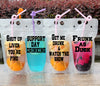 drink pouches clear with funny sayings straw drinking party tailgating bbq pool party camping concerts reusable plastic flask