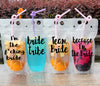 drink pouches clear with funny sayings straw drinking party tailgating bbq pool party camping concerts reusable plastic flask  bachelorette party cups im the fucking bride team bride glasses