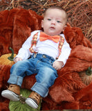 Baby Boy Thanksgiving Fall Outfit Pumpkin Patch Noah's Boytique