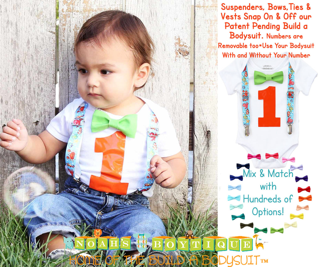 fishing birthday outfit baby boy - boys first birthday outfit - fish party - under the sea birthday