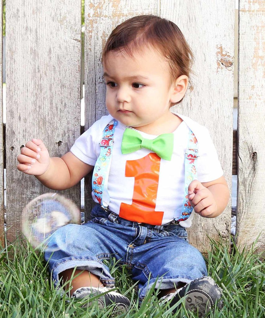 Fish fishing ocean under the sea first birthday outfit for for Baby fishing outfit