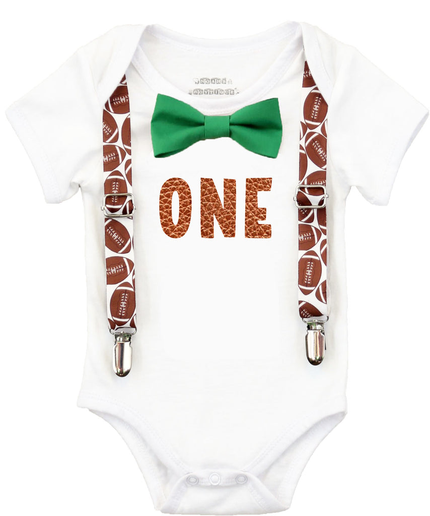 Football First Birthday Party Outfit Baby Boy Noah S Boytique