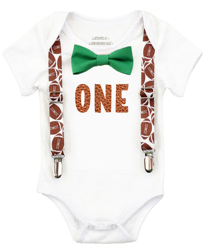 Little Monster First Birthday Shirt Outfit Boy Suspenders Bow Tie