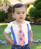 4th of July Outfit Boy - Baby Boy 4th of July Shirt - Toddler 4th of July Outfit Flag - Fourth of July Tie Patriotic Stars and Stripes - 4th of July Onesie Noah's Boytique