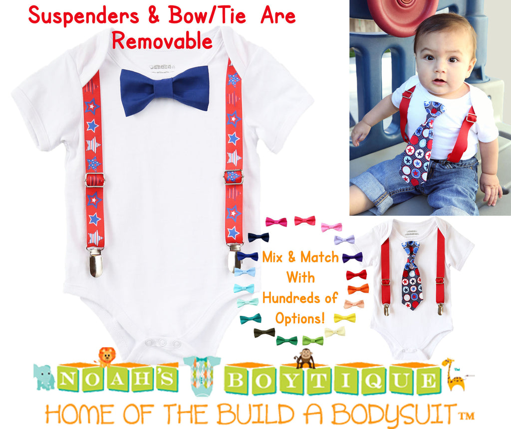 d511f6611 July 4th Baby Boy Outfit - Fourth of July Boy Clothes - Newborn 4th of –  Noah's Boytique
