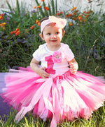 First Birthday Outfit Girl - Pink and White - Lace Tutu - Rhinestone - Fancy - Birthday Tutu Set - Cute Birthday Outfits - Princess