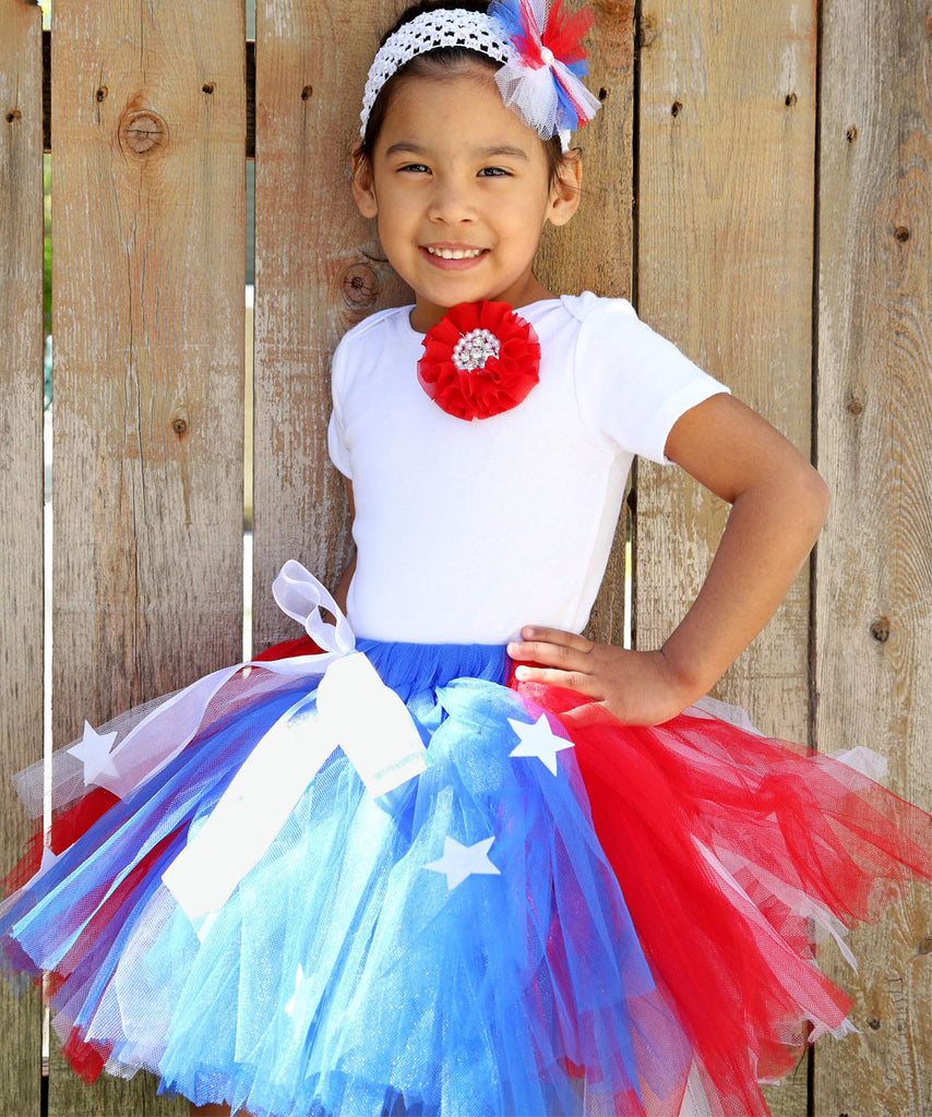 Girls Fourth of July Outfit - Fourth of July Tutu - Toddler - Baby ...